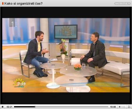 Dobro jutro na RTV Slovenija - Kako si organizirati čas