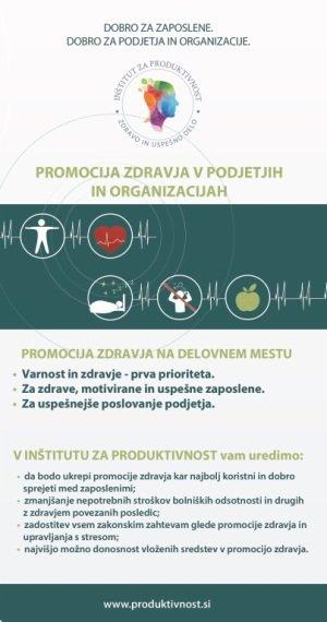 Brosura Promocija zdravja prva stran