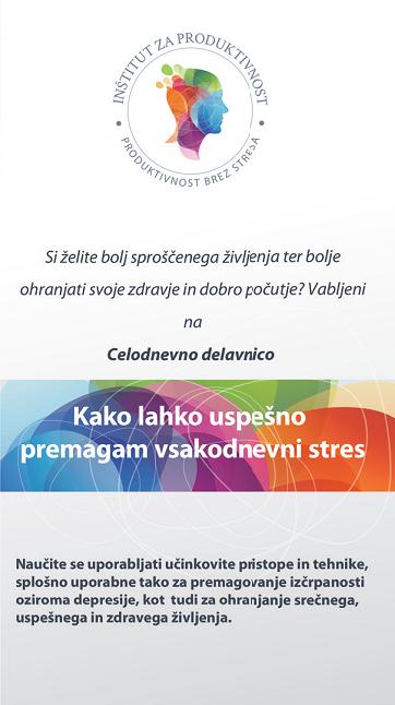 Brošura - kako premagati vsakodnevni stres