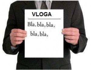 Vloga za zaposlitev bla bla bla