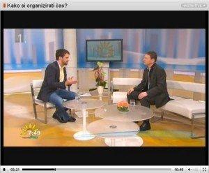Dobro jutro na RTV Slovenija - Kaki si organizirati čas